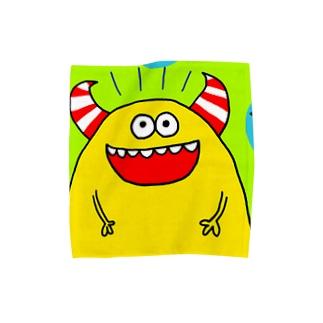 きいろモンスター Towel handkerchiefs