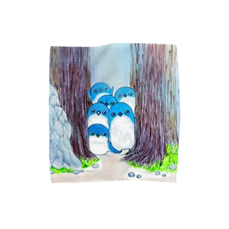 夜のフェアリーペンギンを見ている時、我々もまたフェアリーペンギンに見られているのだ Towel handkerchiefs