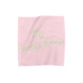 My Sweaty Diary Hand Towel -baby pink- Towel handkerchiefs