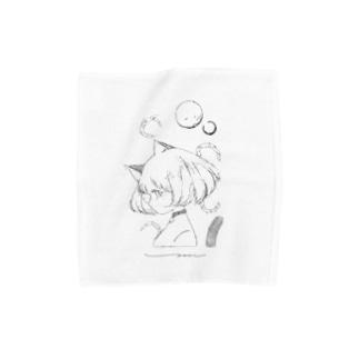猫の彼女 Towel handkerchiefs