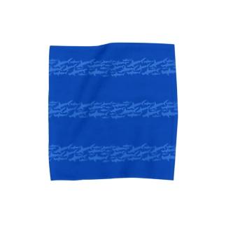ハンマーリバーのボーダー Towel handkerchiefs