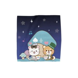 夜空のカフェタイム Towel handkerchiefs
