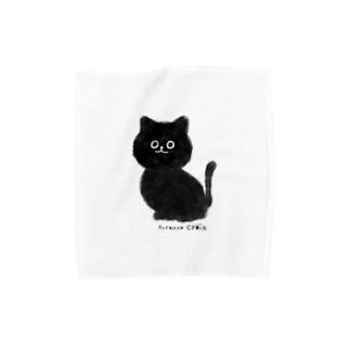 黒ねこクロワ Towel handkerchiefs