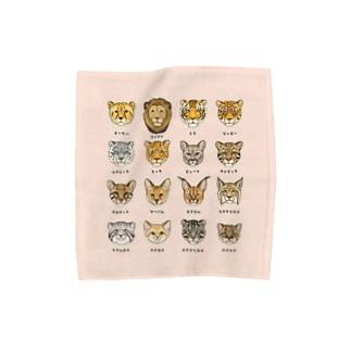 野生のにゃん図鑑 タオルハンカチM Towel handkerchiefs