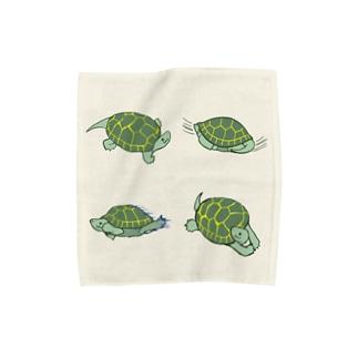 かめやまはんかち Towel handkerchiefs