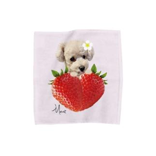 Meat パウダーピンクM Towel handkerchiefs