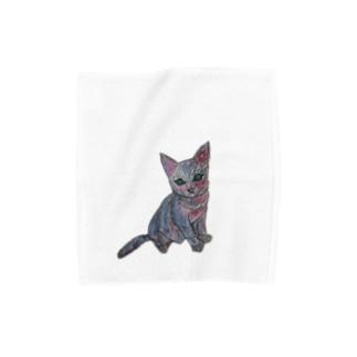 子猫 小物 Towel handkerchiefs