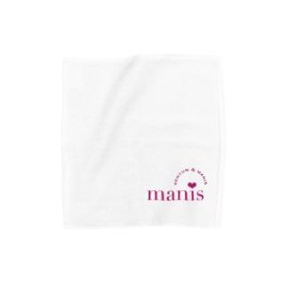manis❤︎ワインレッド Towel handkerchiefs