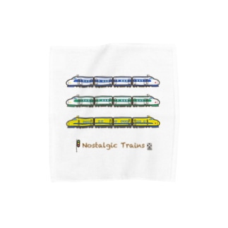 竜の工房・翔 -SUZURI SHOP-のNostalgic Trains Towel Handkerchief