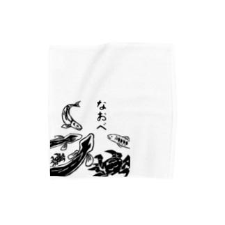 川漁師さん。 Towel handkerchiefs