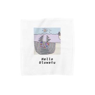 「Helloウルワツ」ハンカチ Towel handkerchiefs