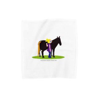 うまのりめいじん①(馬シリーズ) Towel handkerchiefs