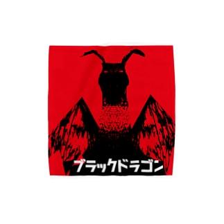 ブラックドラゴン Towel handkerchiefs