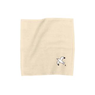 かもめ(Black) Towel handkerchiefs