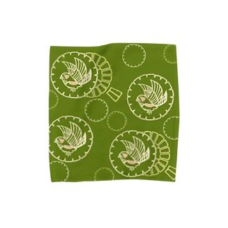キンカチョウと風車 Towel handkerchiefs