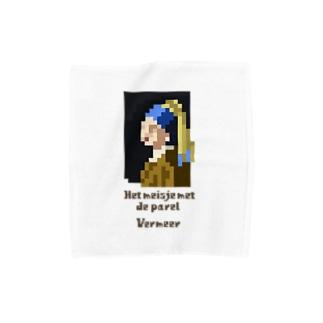 ドット 真珠の耳飾りの少女 Towel handkerchiefs