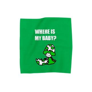 あんびくん(恐竜) Towel handkerchiefs