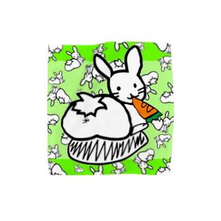 カオスうさぎ:緑(M用) Towel handkerchiefs