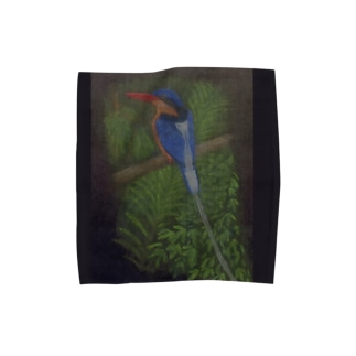 シラオラケットカワセミ Towel handkerchiefs