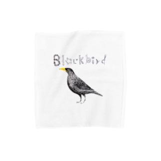 Blackbird タオルハンカチ