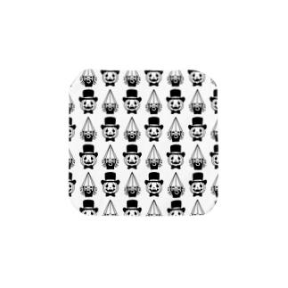 ミニキャラパターン(白) Towel handkerchiefs