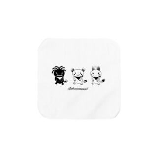 XochimilKids アホロテ・キッズ白黒 スペイン語 Towel handkerchiefs