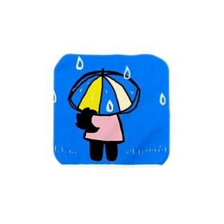 雨の日のクローネちゃん Towel handkerchiefs