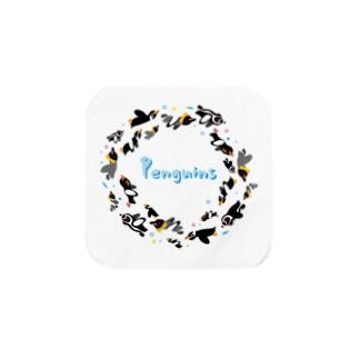 ペンギン達の輪 Towel handkerchiefs