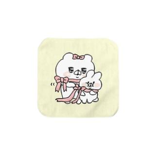 クマ子とぶーぶーちゃんのハンカチ Towel handkerchiefs