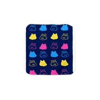 ハムオ 紺 Towel handkerchiefs