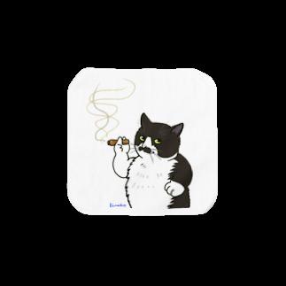 kinako-japanの野良猫ラリー1 Towel handkerchiefs