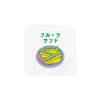 【純喫茶メロン】フルーツサンド Towel handkerchiefs