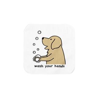 wash hands 2 Towel handkerchiefs