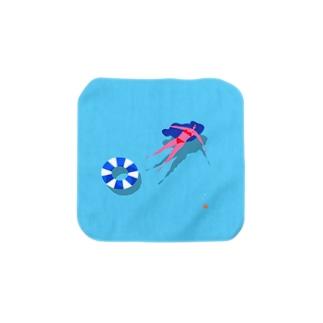 四角い夏の海 Towel handkerchiefs