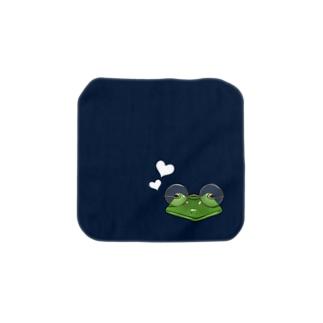 丸メガネカエル ハンカチS Towel handkerchiefs