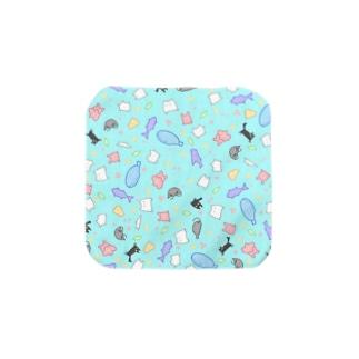 キョペキョペとした生き物(あお) Towel handkerchiefs