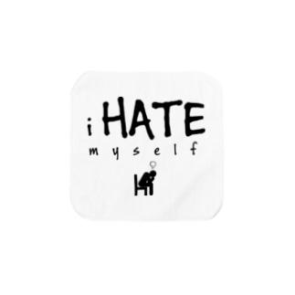 i HATE myself [Black] タオルハンカチ