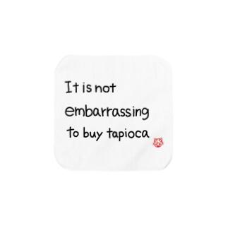 It is not embarrassing to buy tapioca Towel handkerchiefs