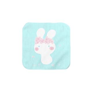 桜うさぽっぽ Towel handkerchiefs