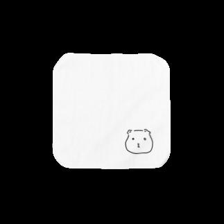 -END-のぽったりモルモット 黒線・透過Ver. Towel handkerchiefs