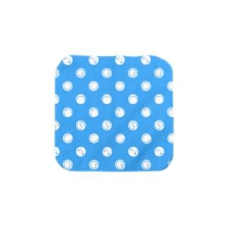 ドットとゴメス(ブルー) Towel handkerchiefs