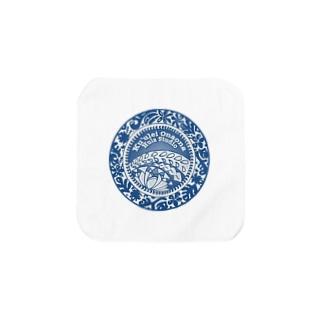 クレオナロゴ ブルー Towel handkerchiefs