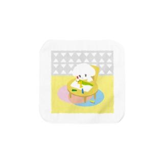 こいぬちゃん(おえかき) Towel handkerchiefs