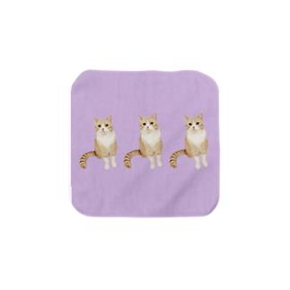 分身する猫 Towel handkerchiefs