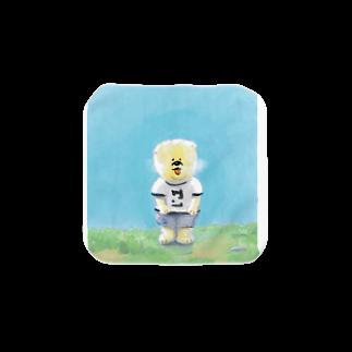 zigokuの犬マン Towel handkerchiefs
