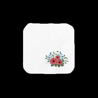 moni82の切り絵風ボタニカルプリント Towel handkerchiefs