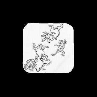 アトリエリトスの鳥獣戯画 Towel handkerchiefs