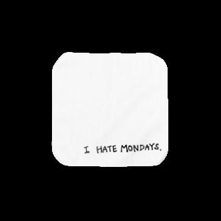 たのしりぃず。の月曜日きらい Towel handkerchiefs