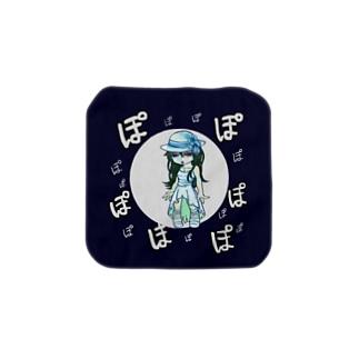 八尺様ぽぽぽハンカチーフ Towel handkerchiefs
