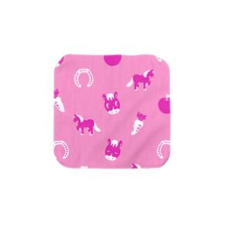馬柄ピンク Towel handkerchiefs